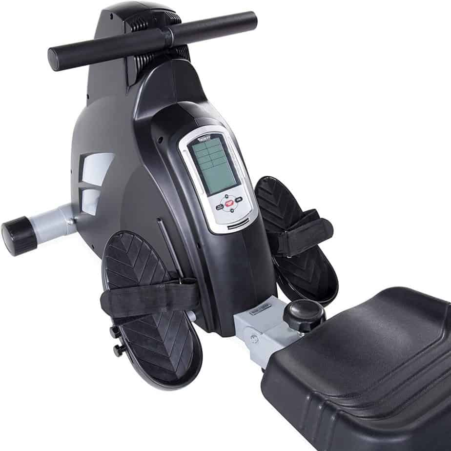 The console, handlebar, pedals,and the seat of the Velocity CHR-2001B Magnetic Rower