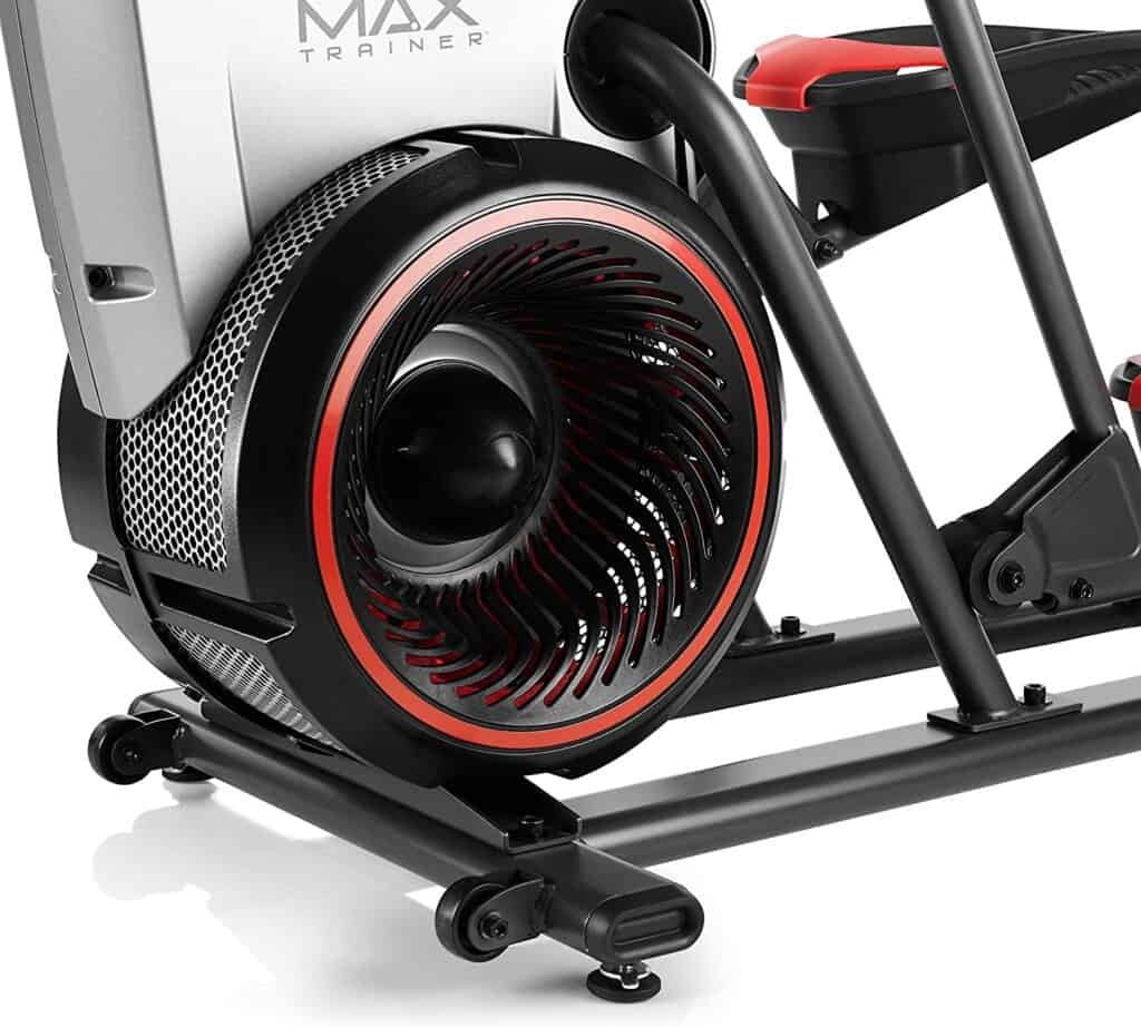 The air resistance fan flywheel of the Bowflex Max Trainer M5