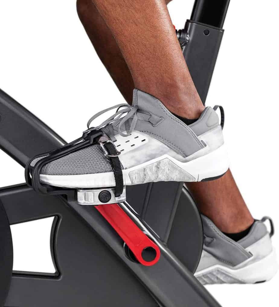 The pedals of the Schwinn IC4 Indoor Cycling Exercise Bike