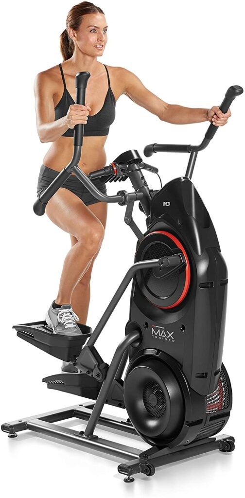 A lady exercises with the Bowflex Max Trainer M3