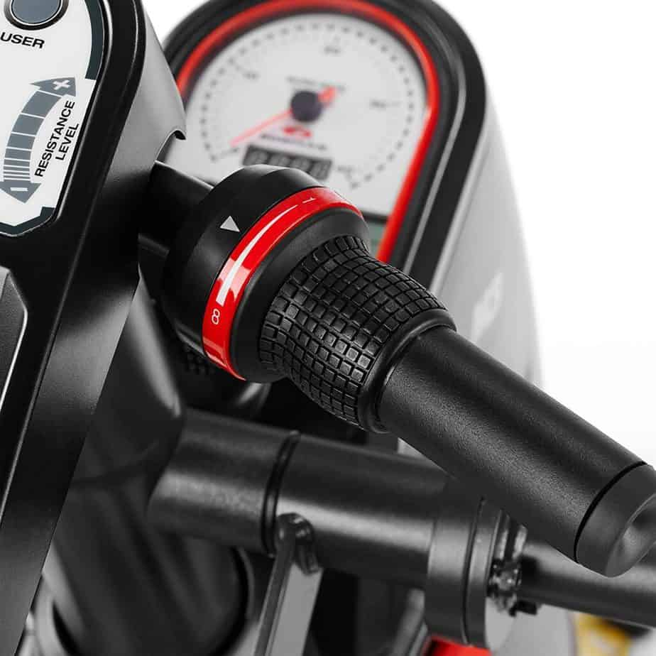 The resistance shifter of the Bowflex Max Trainer M3