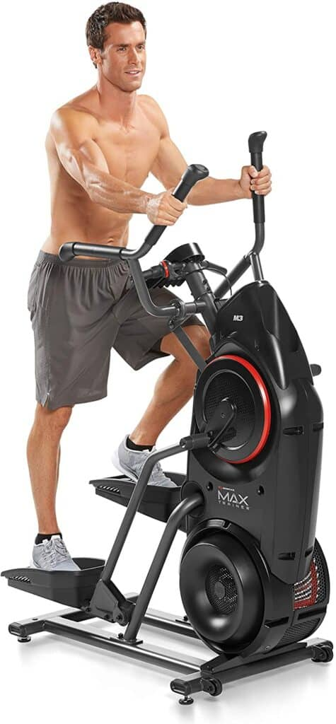 A man exercises with the Bowflex Max Trainer M3