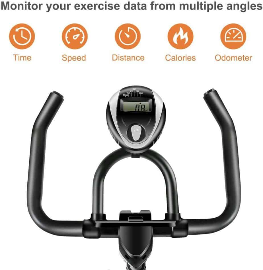 The console and the handlebar of the RELIFE REBUILD YOUR LIFE Indoor Cycling Bike