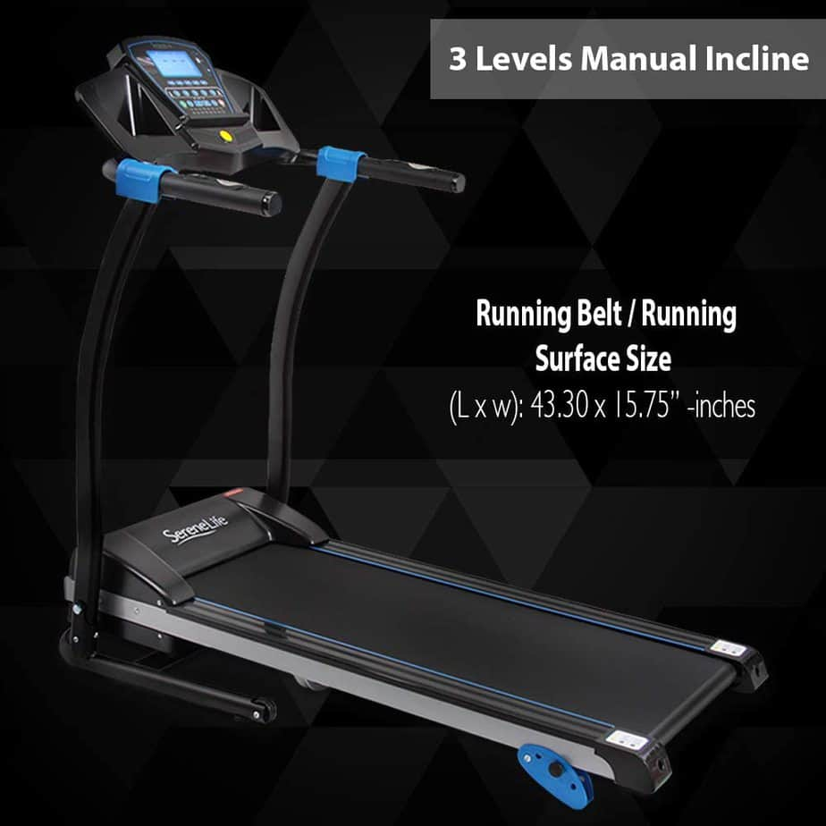 SereneLife SLFTRD25 Smart Folding Treadmill
