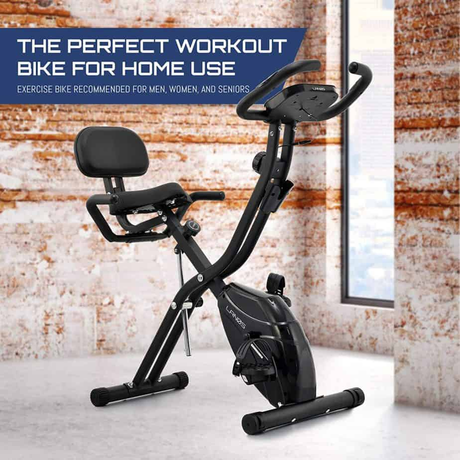 Lenos Semi-Recumbent 3-in-1 Folding Indoor Exercise Bike