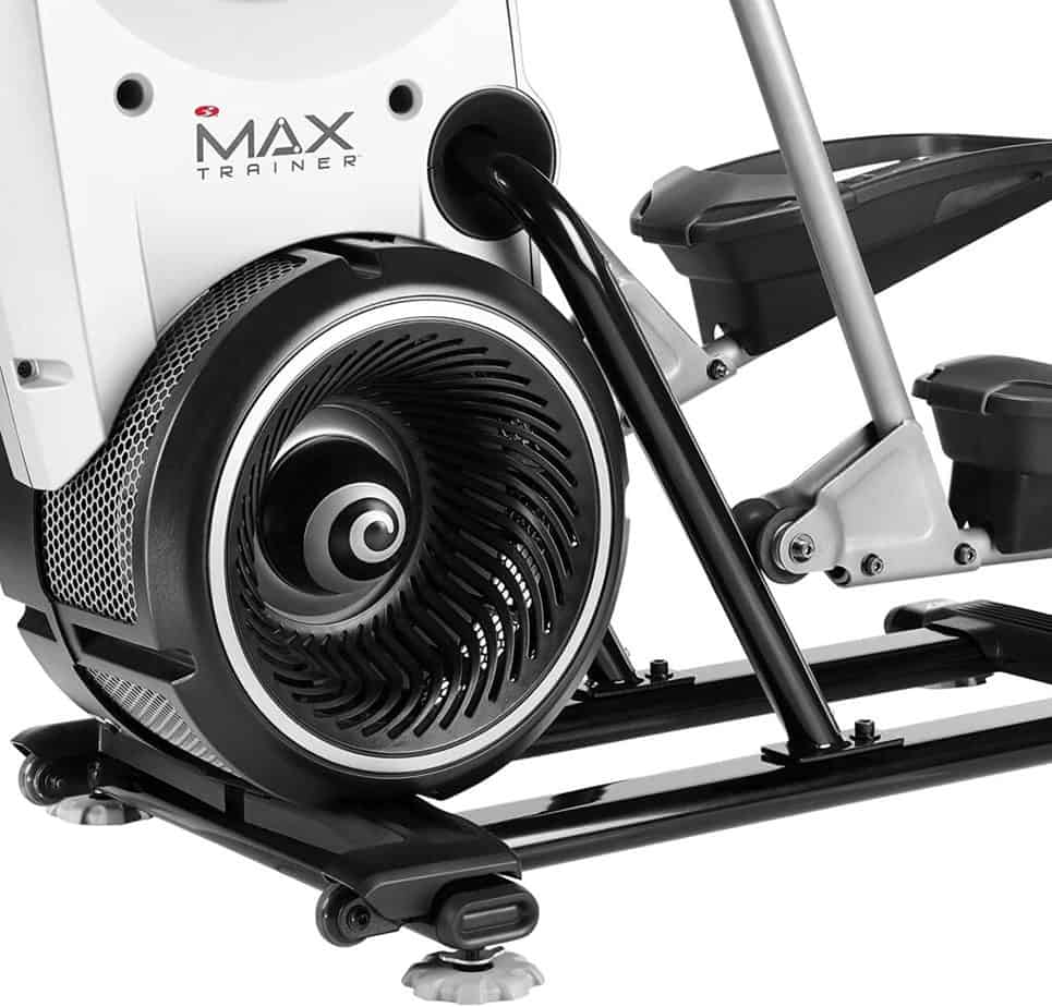 The drive and the resistance system of t he Bowflex Max Trainer M7