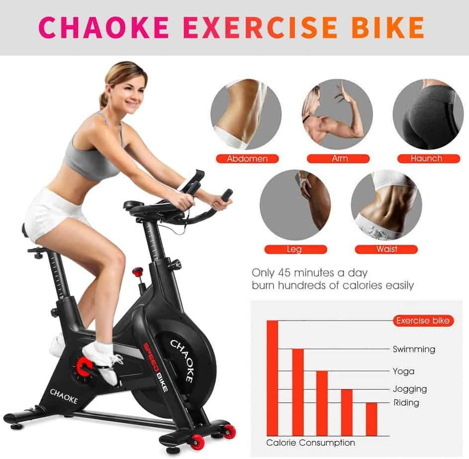 CHAOKE 8705 Indoor Belt Magnetic Exercise Bike
