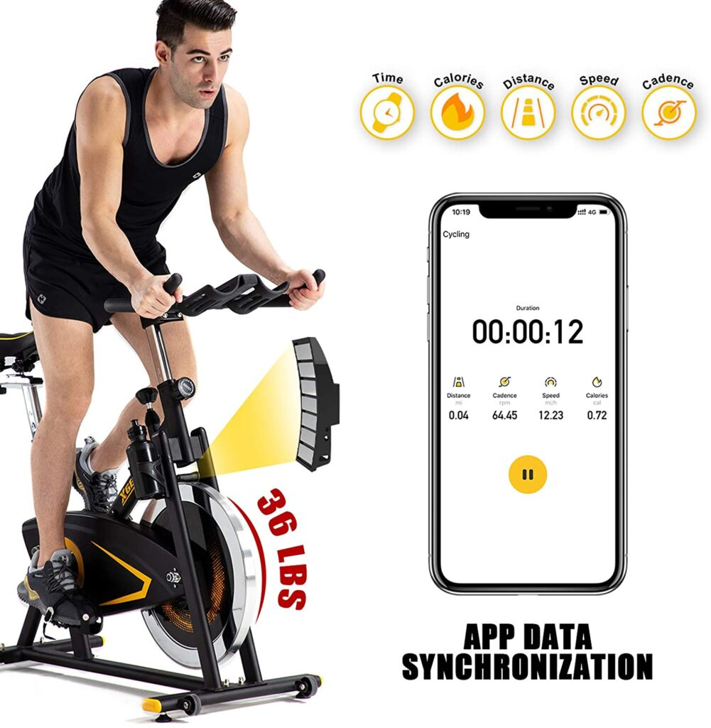 A man rides the XGEAR Magnetic Indoor Exercise Bike while standing