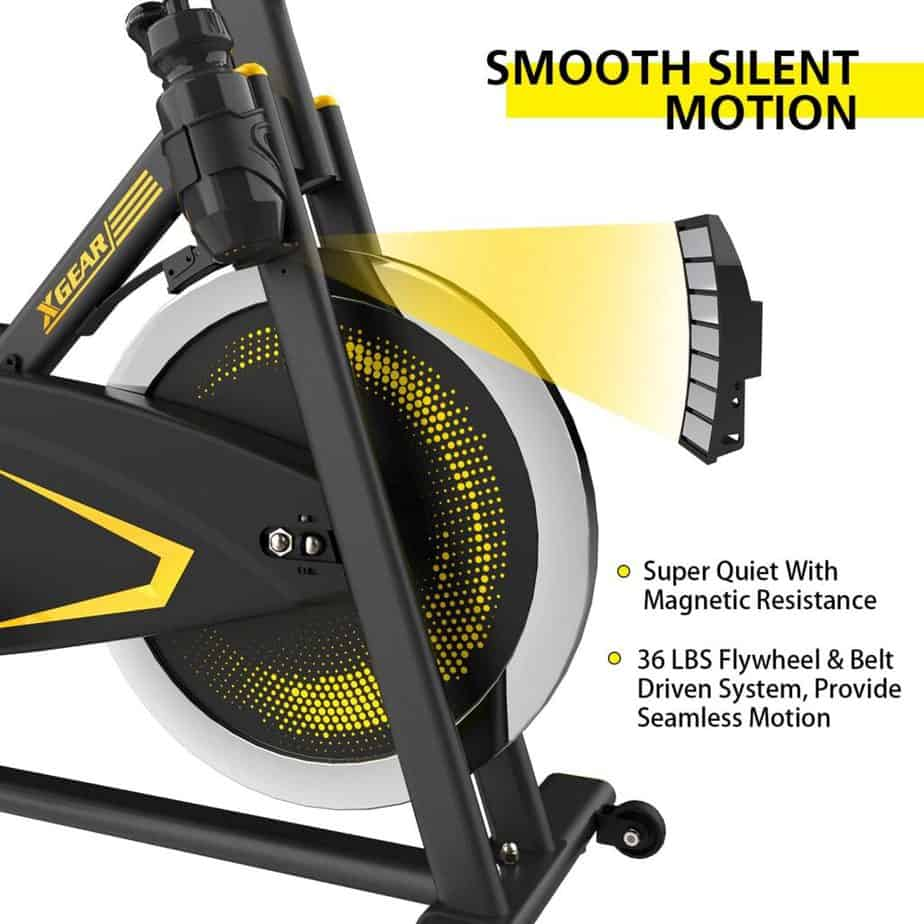 The magnetic resistance system of the XGEAR Magnetic Indoor Exercise Bike
