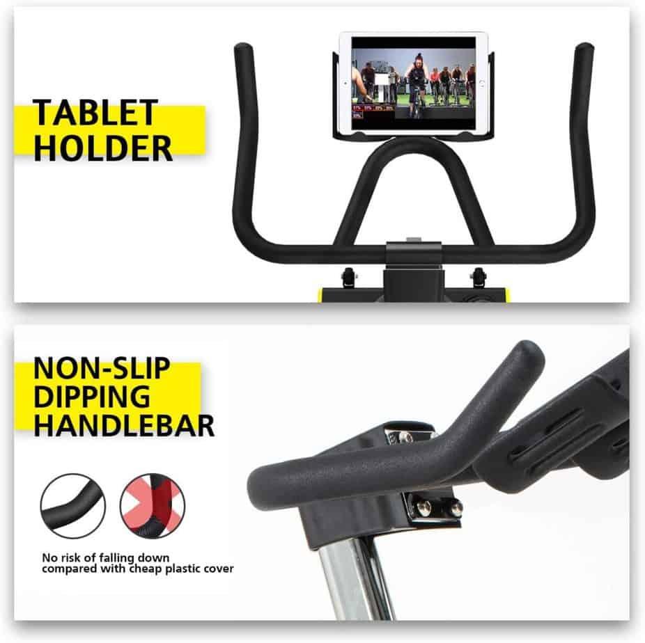 The XGEAR Magnetic Indoor Exercise Bike's adjustable handlebar
