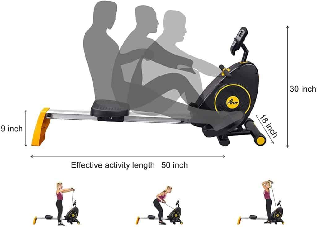FISUP Indoor Magnetic Rowing Machine