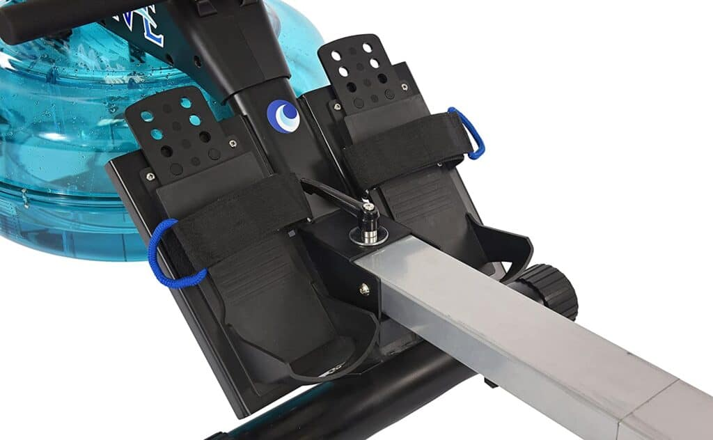The pedals of the Stamina 35-1450 Elite Wave Water Rower