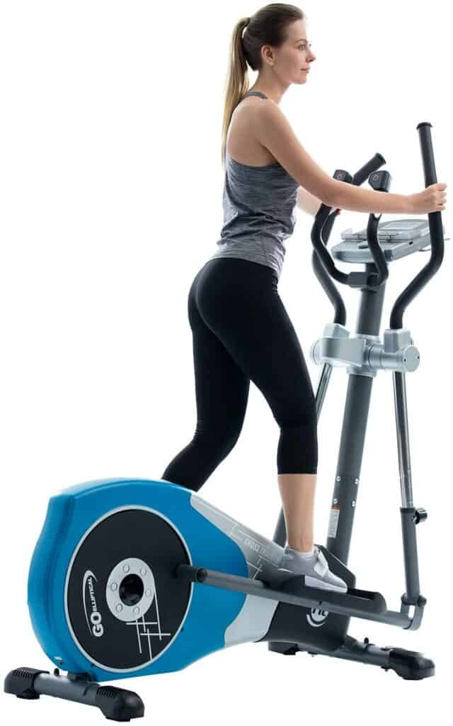 This lady exercises with the GOELLIPTICAL V-450T Elliptical Cross Trainer