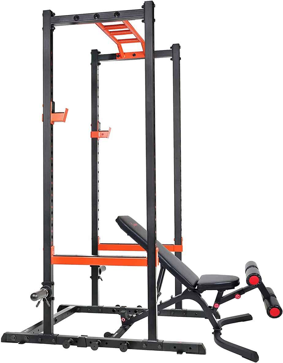 Sunny Health & Fitness SF-XF9925 Power Rack Cage with Weight Bench