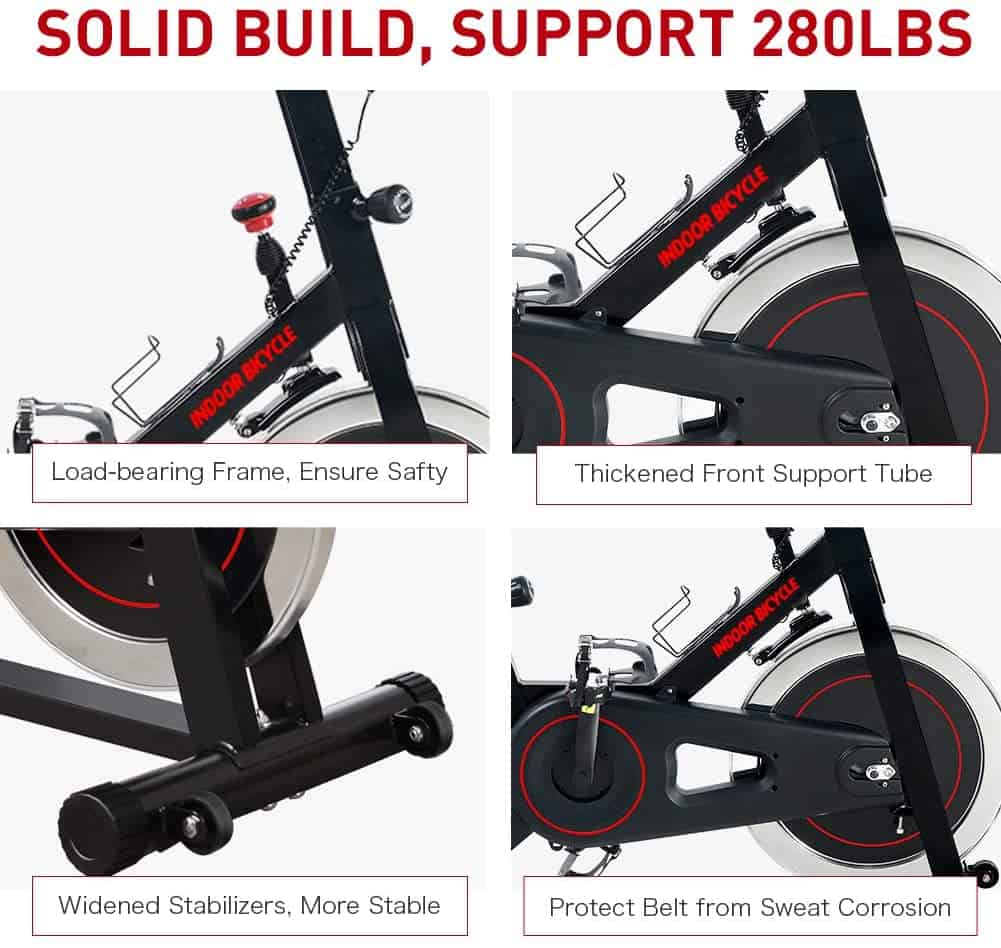 The Joroto XM16 Exercise Bike is solidly built