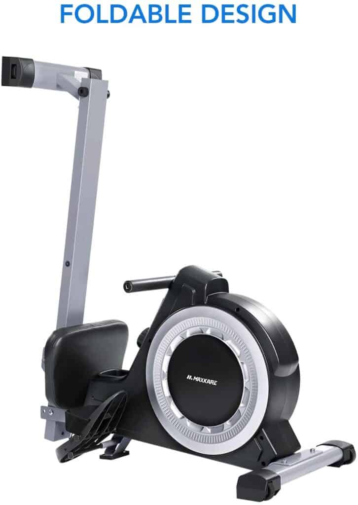 The folded MaxKare RM-MKB901 Magnetic Rowing Machine