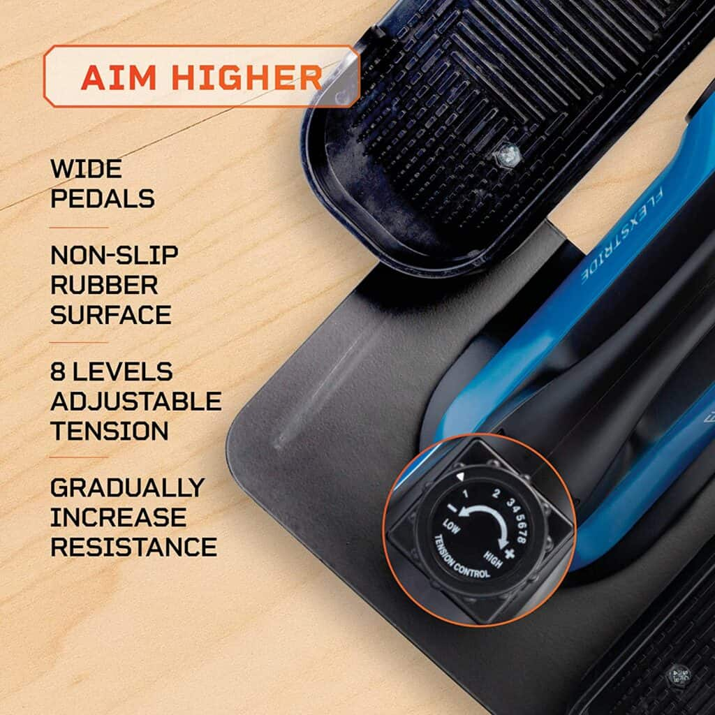 The resistance control knob of the LifePro Under-Desk Elliptical Trainer