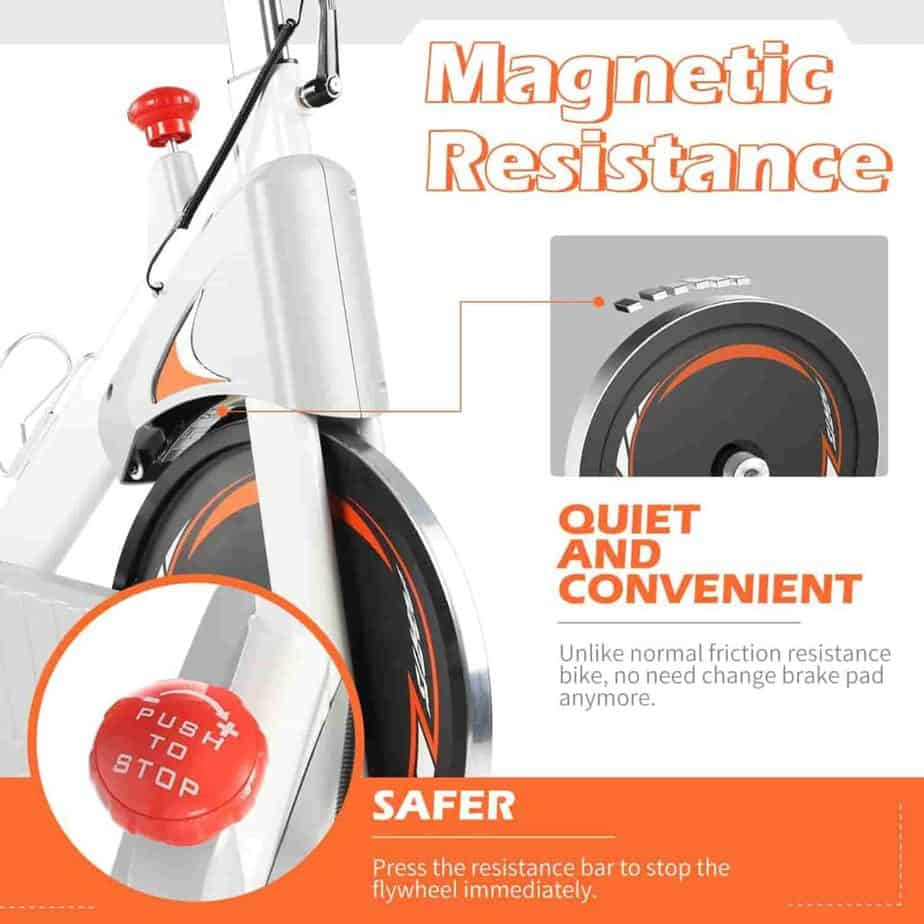 The magnetic resistance system of the ADVENOR Magnetic Resistance Exercise Bike
