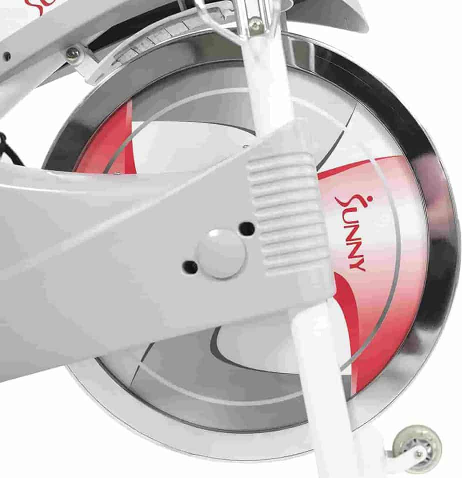 The resistance system of the Sunny Health & Fitness SF-B1876 Magnetic Resistance Cycling Bike