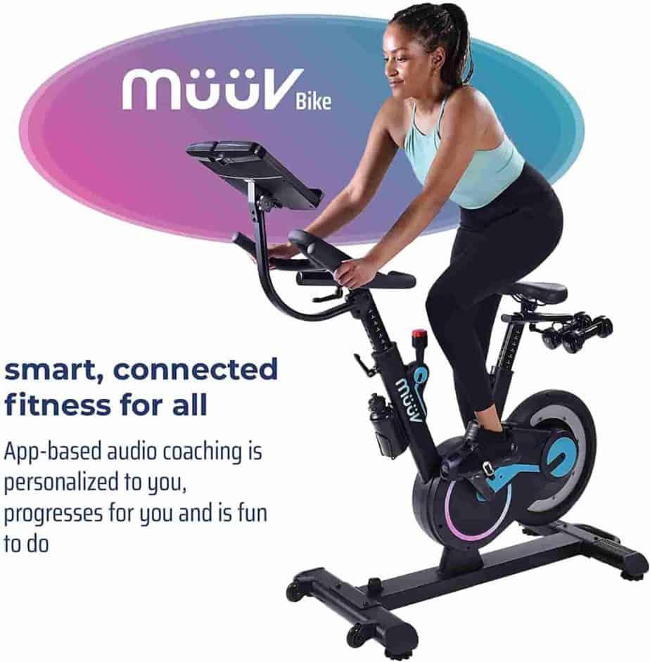 A lady rides the MuuvSmart Cycling Bike